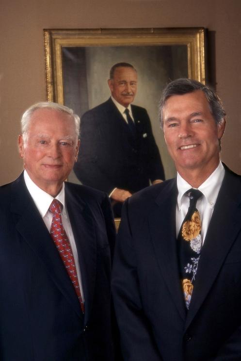 Barron Hilton Left Steve And Portrait Of Conrad N