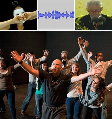 David Feldshuh teaching workshop collage
