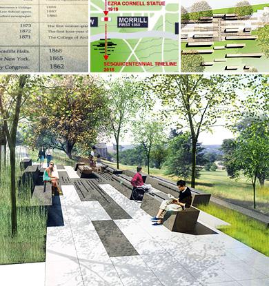 Cornell Sesquicentennial Commemorative Grove collage