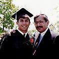 Edward Estrada '94 with his father, Robert K. Estrada, at graduation