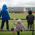 preschoolers watch field hockey